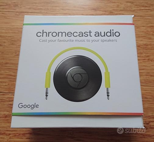 Google Chromecast audio + cavo rca originale