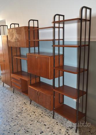 Libreria modulare anni 60