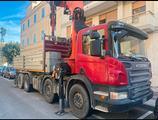 Scania 4 assi gru palfinger e ribaltabile