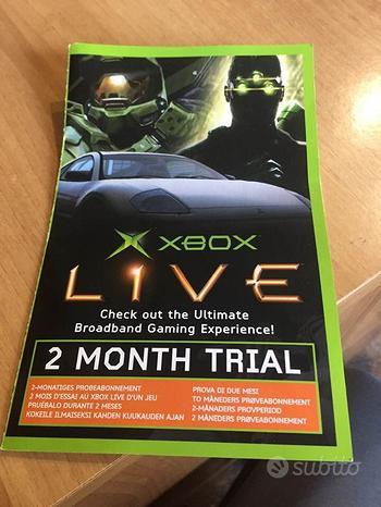 Xbox live 2 month trail, prima xbox inutilizzato