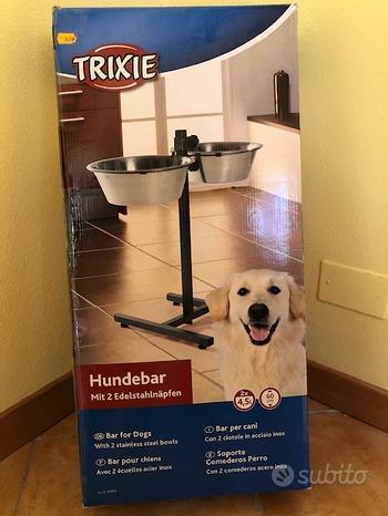 Ciotole cane, in acciaio inox con sostegno Trixie
