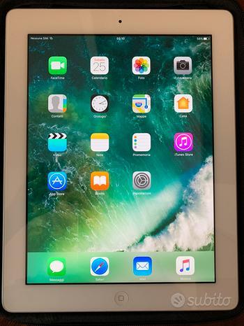IPad 4 64gb wifi+cell, cover magnetica, custodia