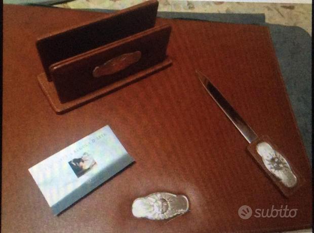 Set studio da scrivania in argento