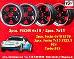 Ï»¿cerchi Porsche 911 944 Turbo 6x15 + 7x15 flat s