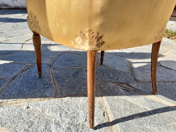 Poltrona sedia antica