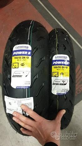 Gomme Michelin Power 5 120/70 17 +190/55 17 M/C TL