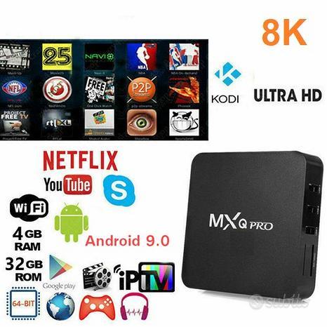 Tv box mxq pro 8k 4/32gb android 9.0 quad core