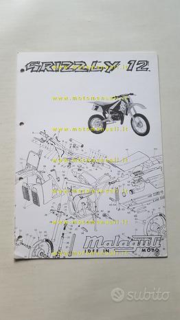 Malaguti 50 Grizzly 12 1997 catalogo ricambi