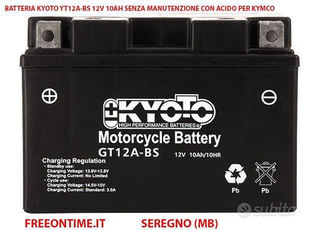 Batteria kyoto yt12a-bs 12v 10ah acido per kymco