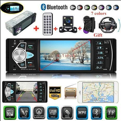 I Autoradio Stereo Bluetooth MP5 SD PIU TELECAMERA