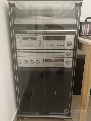 Impianto stereo hi-fi Philips anni 80