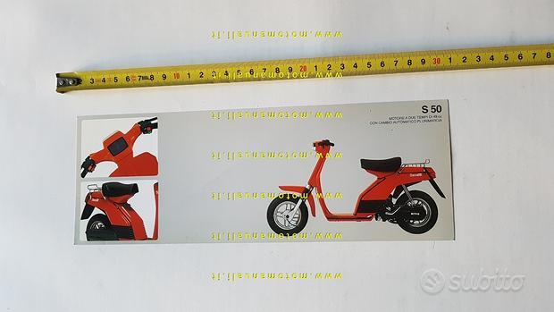 Benelli S 50 1981 depliant brochure originale ital