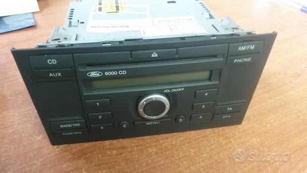 Stereo autoradio ford 6000 cd