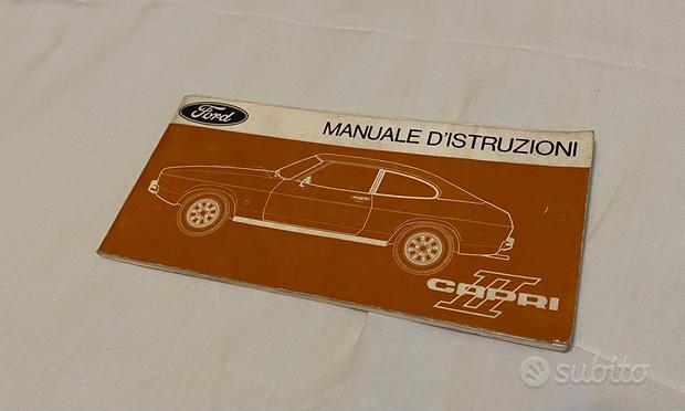Libretto uso e manutenzione Ford Capri II
