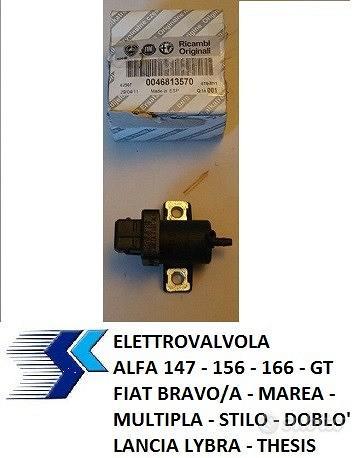 Elettrovalvola Alfa 147, 156, Fiat Multipla, Stilo
