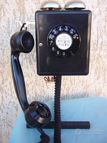 TELEFONO WEIDMANN IN BACHELITE ANNI 60 funzionante