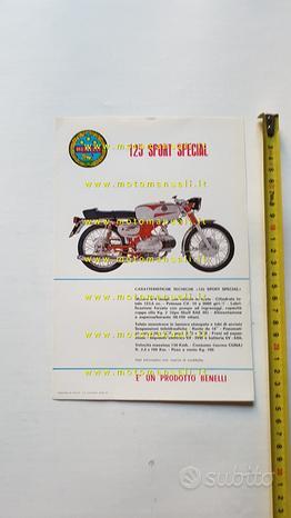 Benelli 125 Sport Special 1970 depliant originale