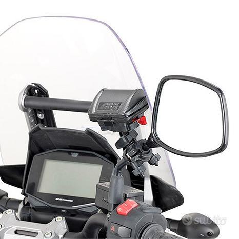Porta telepass moto scooter fissaggio specchietto
