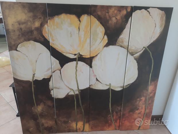 Papaveri - serigrafia su tela