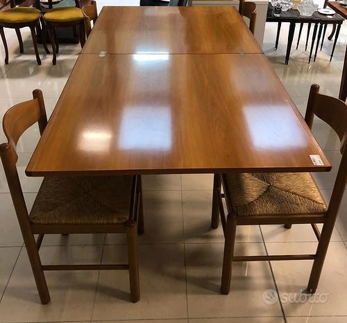 Tavolo legno allungabile + 4 sedie - Trattabile