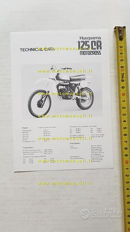Husqvarna 125 CR Cross 1980 scheda tecnica stampa