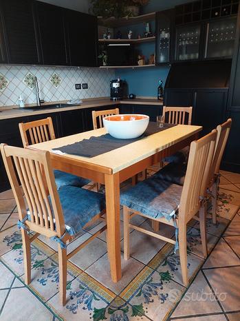 Tavolo Berloni Domino con 6 sedie