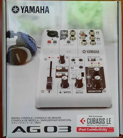 Yamaha AG03 Mixer USB 3 canali