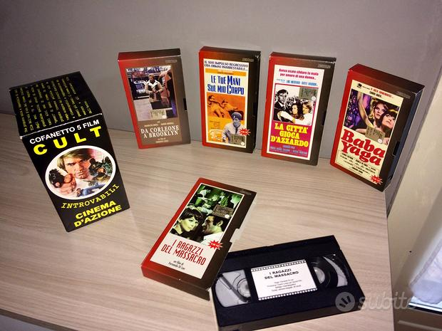 Cofanetto 5 film VHS CULT cinema D'azione