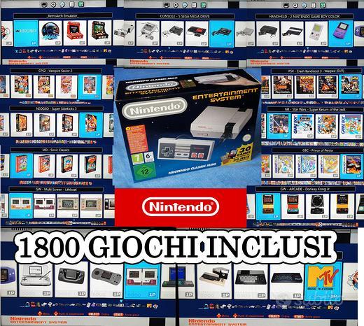 Console mini nes originale nintendo con 1800 games