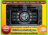 Radio tablet navigatore per ALFA 159/brera/spider