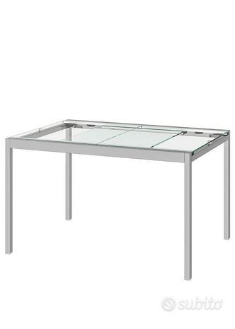 Tavolo allungabile trasparente 125-188x85cm