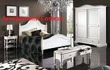 Camera da letto stile shaby. Bianco
