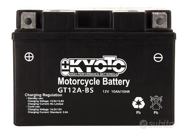 Batteria kyoto yt12a-bs 12v 10ah acido x kawasaki