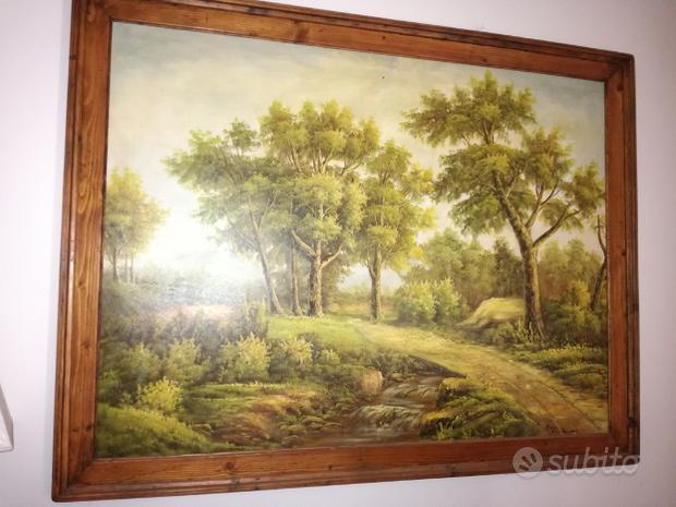 Quadro pittura a olio su tela 130 X 103