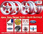 4 cerchi Torq Thrust 7x15 ET-5 + 8x15 ET0 5x114.3