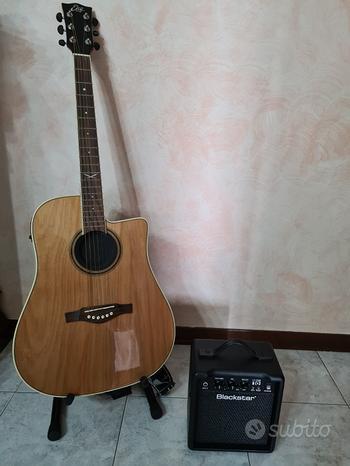 Chitarra acustica + amplificatore