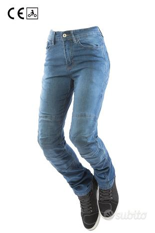 Pantalone jeans moto oj donna + kevlar +protezioni
