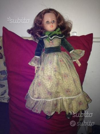 Bambola vintage altezza cm 50