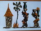 Quadri fatti con ali di farfalle africane