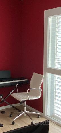 Sedie ufficio in ecopelle bianca