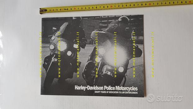 Harley-Davidson modelli Polizia 1988 depliant