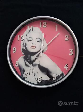 Orologio rotondo appendere parete Marilyn Monroe