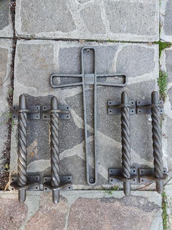 4 maniglie ferro battuto