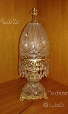Abatjour / lampada da tavolo in cristallo molato