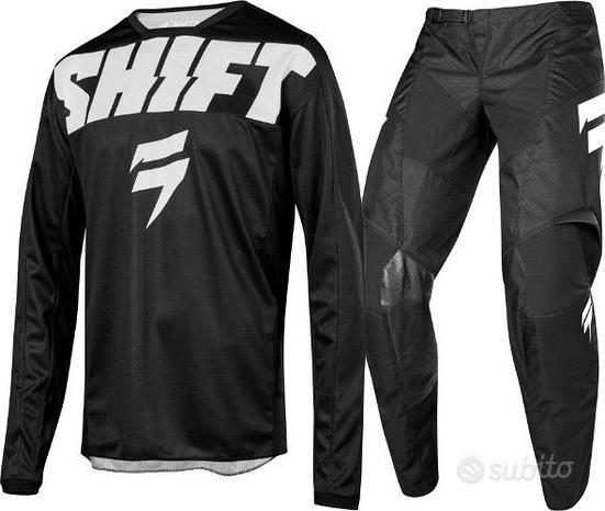 Pantaloni motocross grandi shift nero ciccio tg58