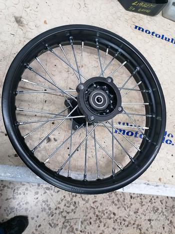 Cerchio posteriore pit bike da 14 perno 12