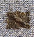 Vecchia lamina lavorata copri buchi o decorativa i