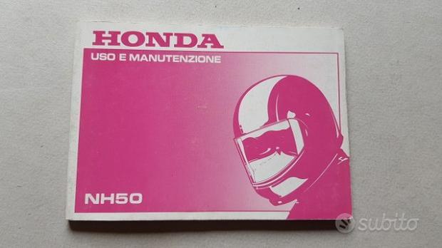 Honda SCOOTER NH 50 1989 manuale uso ITALIANO