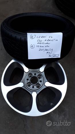 """Cerchi lega 17"""" pneumatici invernali Fiat 500"""