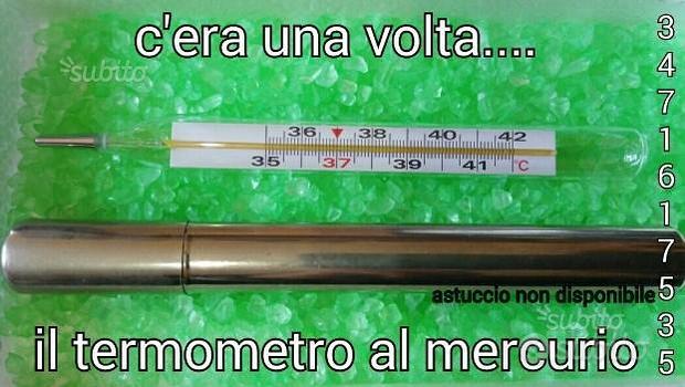 Vintage. Nuovo Termometro al mercurio x bambini